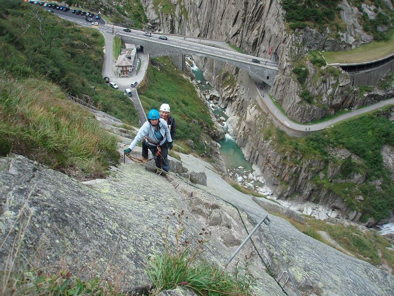 Klettersteig Diavolo : Andermattt klettersteig diavolo p