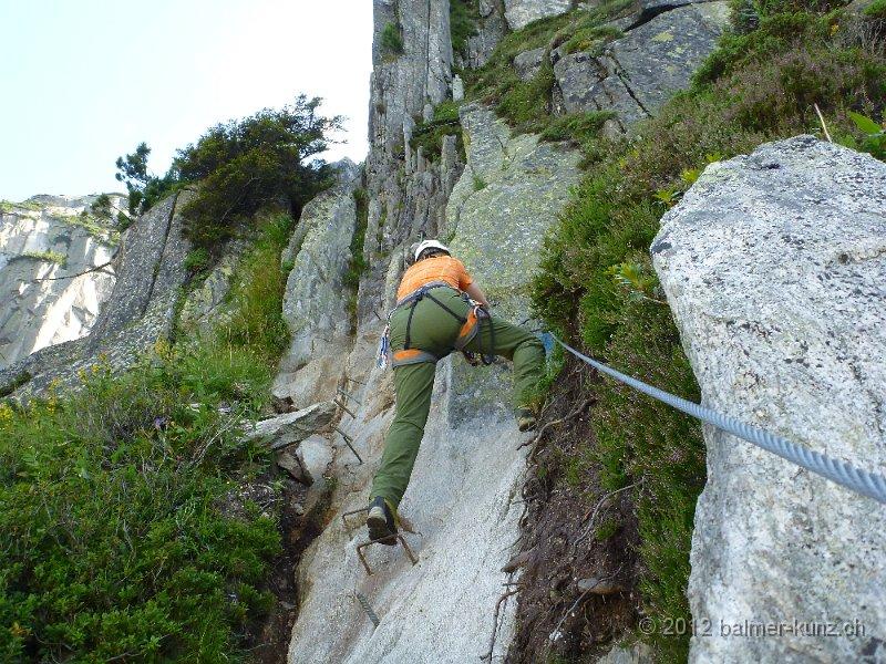 Klettersteig Andermatt : Klettersteig krokodil